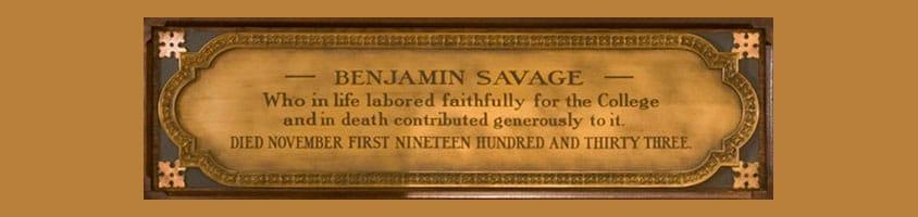 Benjamin Savage Society