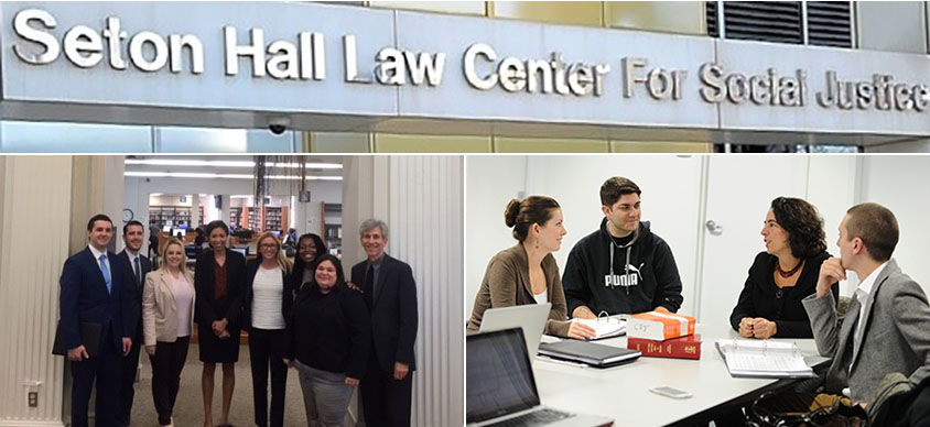 Center for Social Justice Header with Three Photos of the Center