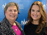 Patricia Frele '73/MBA '79 with her Scholarship Recipient
