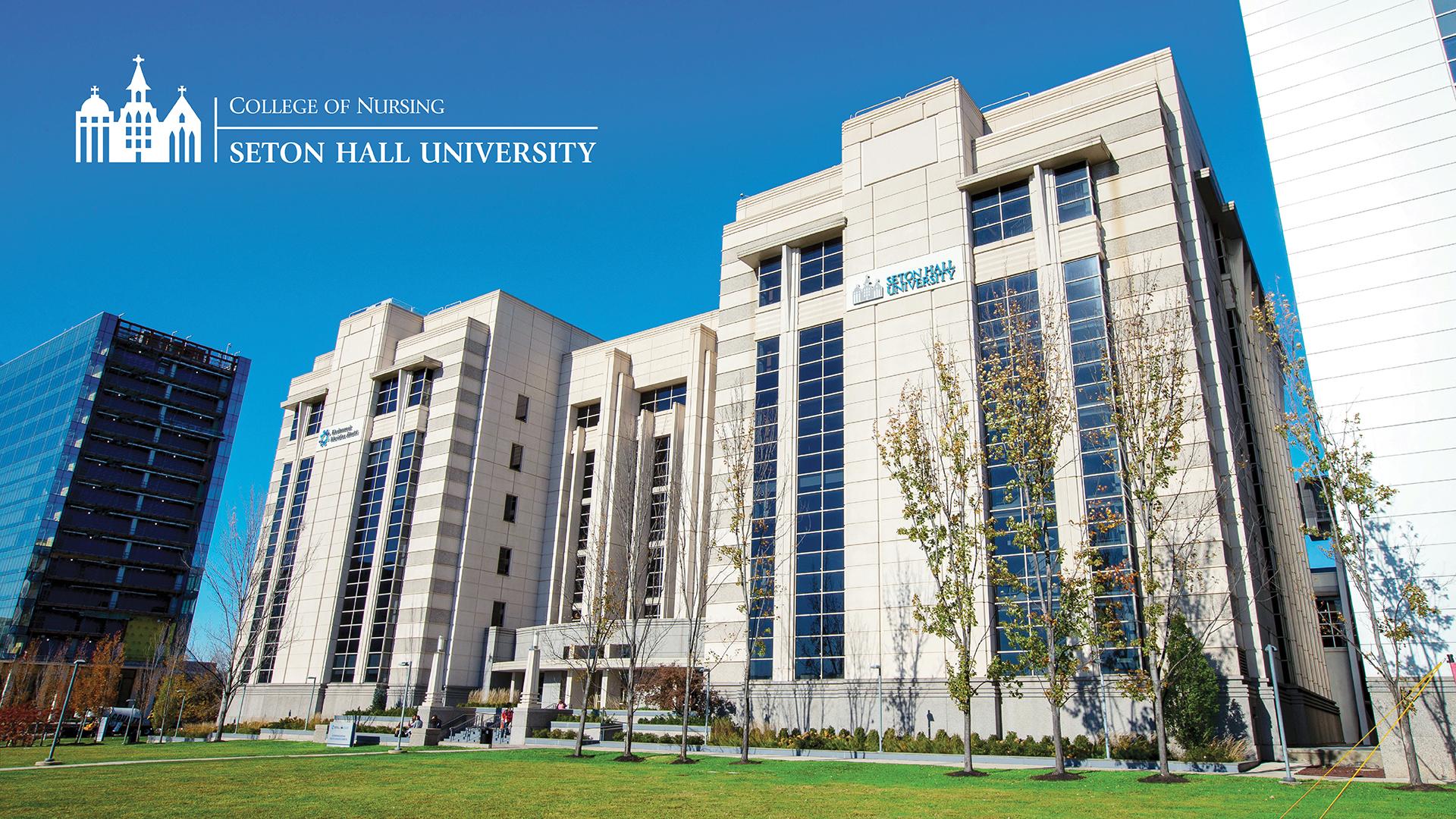 Nursing Virtual Background - IHS Campus Building Exterior 1
