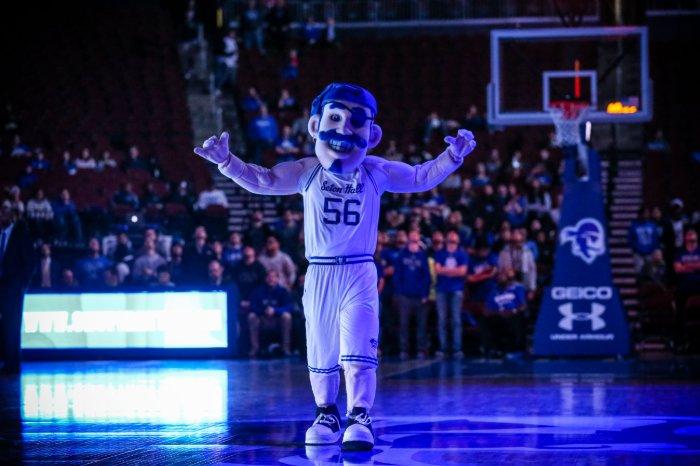 Seton Hall Pirate on the Basketball Court