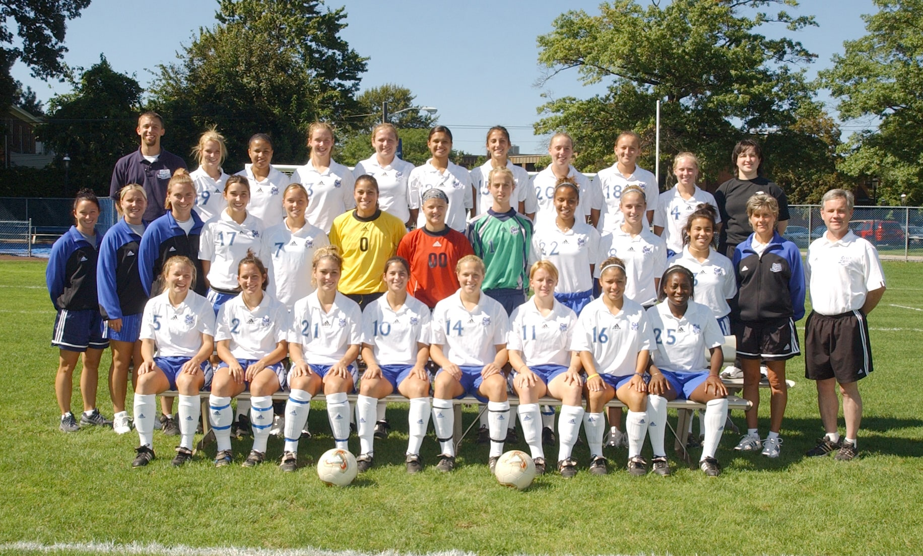 Mary Jennings with the Women's Soccer Team