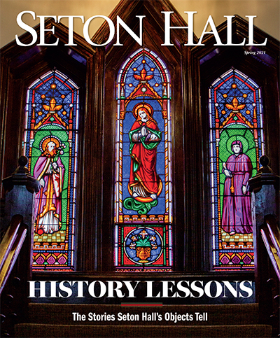 Seton Hall Magazine Cover Spring 2021